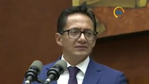 Imagen de Freddy Carrión, Defensor del Pueblo destituido por el Parlamento de Ecuador. (Captura de video/YouTube).