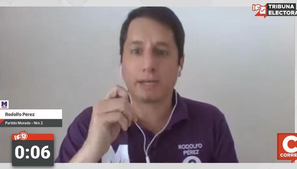 Rodolfo Pérez es candidato al Congreso por el Partido Morado