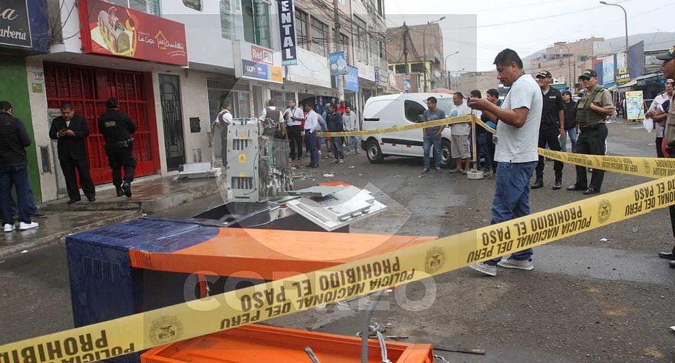 Detienen a delincuentes que arrastraron cajero automático en San Martín de Porres│VIDEO