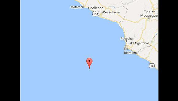 Moquegua:  Sismo de 4,1 grados registra IGP frente al Puerto de Ilo