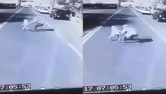 Padre muere tras arrojarse debajo de un bus para salvar a su hijo de 4 años (VIDEO)