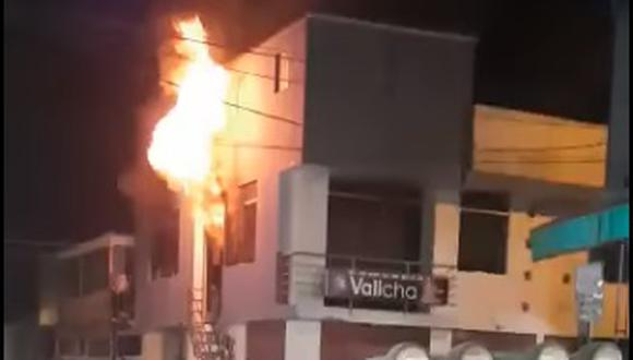 Incendio en la zona de Secocha genera pánico