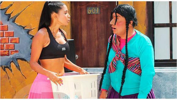 El wasap de JB: Rocío Miranda y la Paisana Jacinta juntas en la secuencia de la lavandería
