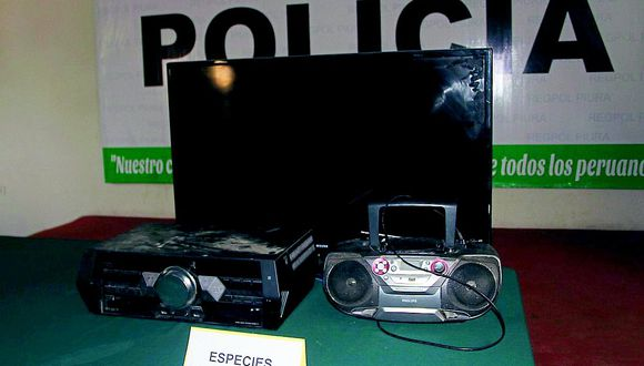 Piura: Agentes recuperan electrodomésticos robados de una vivienda