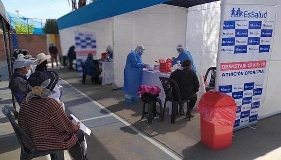 EsSalud en Arequipa aplicó 18,500 pruebas rápidas