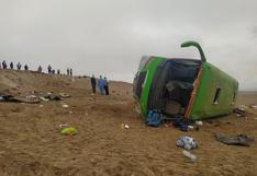 Tacna: Dos fallecidos deja volcadura de bus que trasladaba a migrantes haitianos