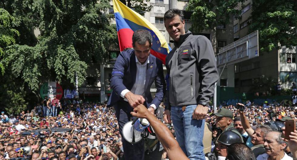 A finales de abril de 2019 el presidente del Parlamento de Venezuela, Juan Guaidó, lideró, junto al también opositor Leopoldo López, un fallido levantamiento militar. (Foto: AFP)