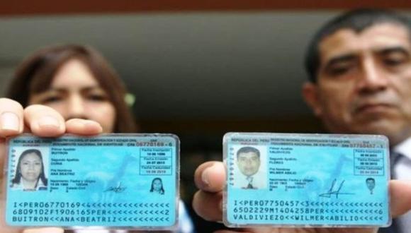 El dígito verificador se encuentra en la parte superior derecha, al final del número del DNI (Foto: Andina)