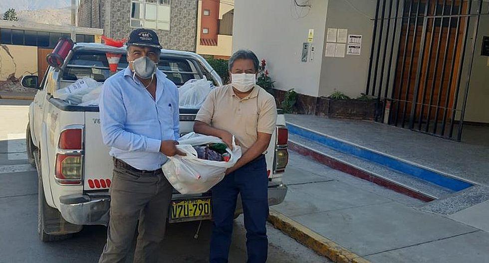 Reparten alimentos donados por Quellaveco a familias pobres