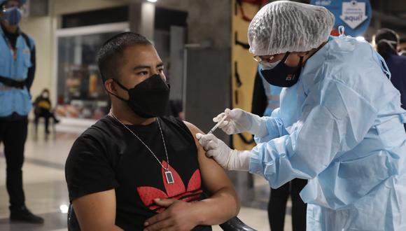 El total de ciudadanos inoculados con dos dosis es de 13′352.886, informó el Minsa.  (Foto: Britanie Arroyo / @photo.gec)