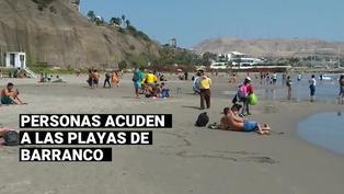 Barranco: personas asisten a la playas en el día de las Elecciones Generales 2021