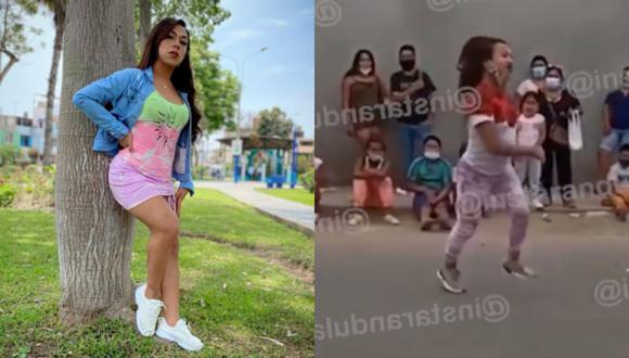'Dayanita' es captada en show en las calles de Chincha y sin mascarilla (VIDEO)