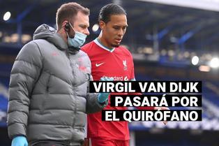 Liverpool: Van Dijk pasará por el quirófano por dura lesión en la rodilla y estará varios meses de baja