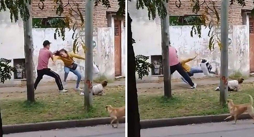 Facebook: sujeto golpea a mujer que lleva a su hija en brazos (FOTOS)