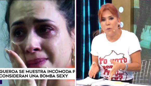 Magaly Medina señaló que Milett Figueroa no tenía talento vocal, por eso llamaba la atención sus atributos físicos. (Foto: Captura ATV y América TV)