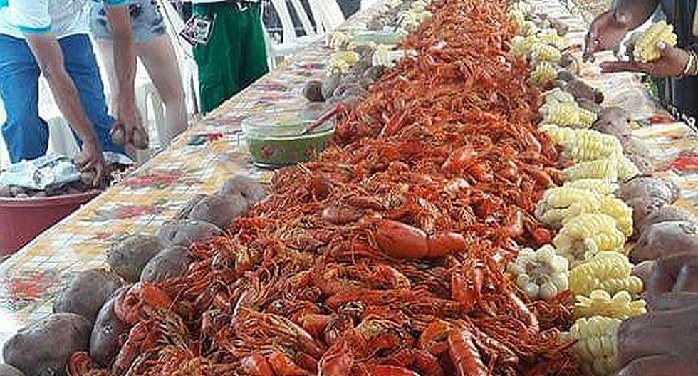 Preparan mil 700 kilos de camarón en tradicional capisca en Camaná