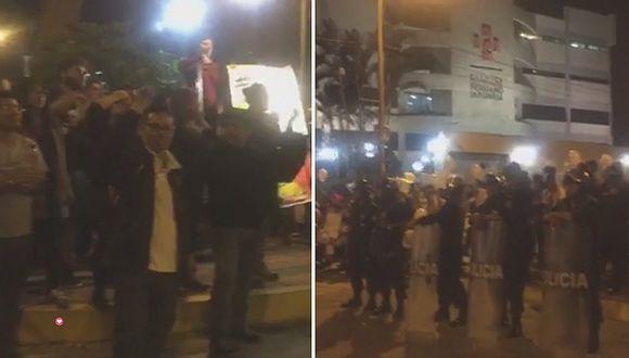 Alberto Fujimori: Manifestantes protestan frente a la clínica donde está internado el expresidente (VIDEO y FOTOS)