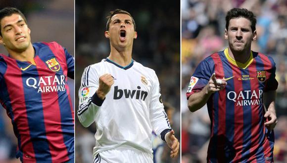 UEFA: Lionel Messi, Cristiano Ronaldo y Luis Suárez candidatos al Mejor Jugador
