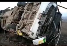 Caída de bus a abismo deja 27 mineros sin vida y 13 heridos