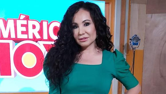 """Al iniciar la edición de este miércoles de """"América Hoy"""", Ethel Pozo se tomó unos minutos para señalar que el cantante de cumbia había sido suspendido arbitrariamente, y anunció su regreso al set. (Foto: América TV)"""