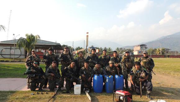 Se desplegaron operaciones especiales en apoyo a la Policía Nacional contra el tráfico ilícito de drogas en el Vraem.