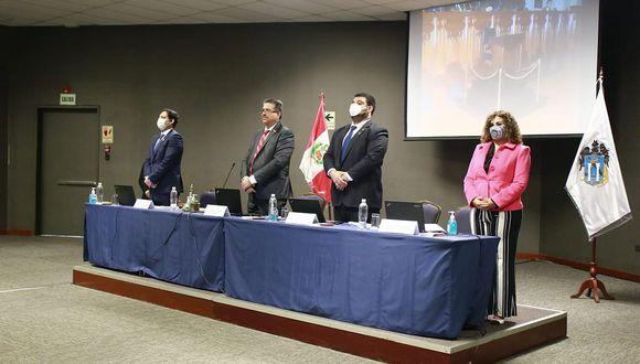 La Mesa Directiva acudió de forma presencial al pleno descentralizado en Trujillo. (Foto: Difusión)