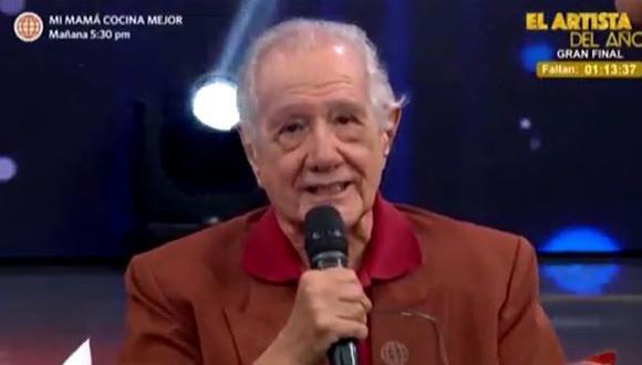 """Guillermo Rossini tras recibir homenaje en """"El Reventonazo de la Chola"""". (Foto: Captura de video América TV)"""