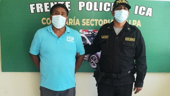 Detienen a exalcalde de Palpa, Justo Mantilla que era buscado por el Poder Judicial.