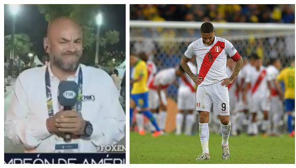 Peter Arévalo se quiebra durante transmisión en vivo por derrota de Perú en la Copa América (VIDEO)