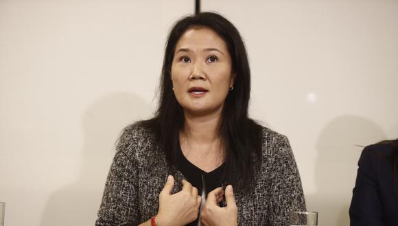 La precandidata presidencial confía en que el Poder Judicial no suspenda a su partido. (Foto: GEC)