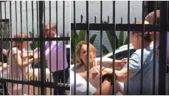 Hombre golpeó y tiró al suelo a mujer en Jesús María (VIDEO)
