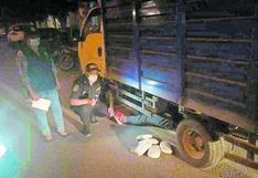 PNP interviene camión y encuentra 42 paquetes de droga camuflada en Áncash