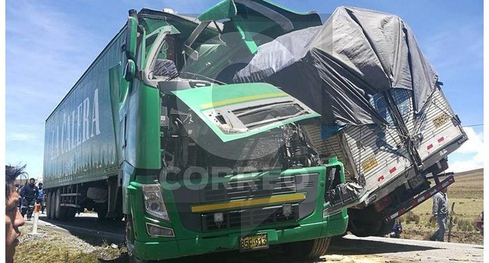 Chofer muere en choque de camiones en la Carretera Central (FOTOS)