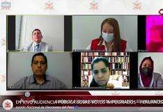 Así fue la audiencia pública del JEE de Lima Centro 1 por votos impugnados del extranjero (FOTOS)
