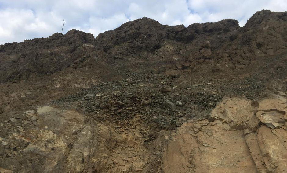 Áncash: sismo de magnitud 5,4 causó deslizamiento de rocas en carretera hacia  Huarmey. Foto: Farrovisiontv−Huarmey