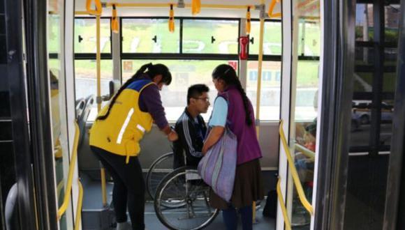 ATU dio detalles sobre el uso del Metropolitano por personas con discapacidad. (Foto: Andina)