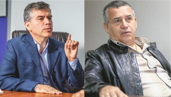 Julio Guzmán y Daniel Urresti intercambiaron palabras en Twitter. | Foto: Composición.