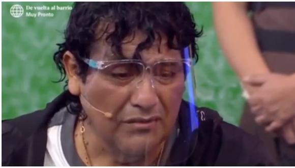 Toño Centella llora al recordar la muerte de su madre. (Foto: América TV)