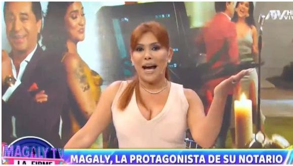 Magaly Medina anuncia que su esposo grabó videoclip con Daniela Darcourt. (Foto: Captura ATV)