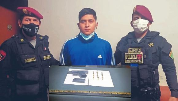 El intervenido, identificado como Jean Pierre Castro Vásquez (20), llegó hasta una discoteca del centro de Trujillo.
