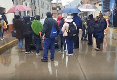Huancavelica: Taxista y profesores se enfrentan durante protesta