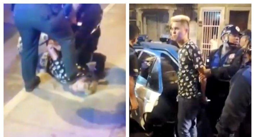 Los dos sujetos de nacionalidad venezolana interceptaron junto a otro cómplice a una pareja en la avenida Arequipa. (Captura: América Noticias)
