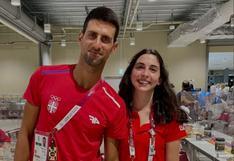 Daniela Macías se fotografió al lado del tenista serbio Novak Djokovic