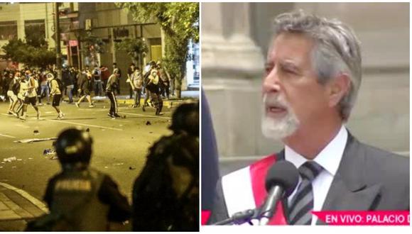 """El presidente del Perú, Francisco Sagasti, aseguró que las muertes de Inti y Bryan """"no quedarán impunes""""."""