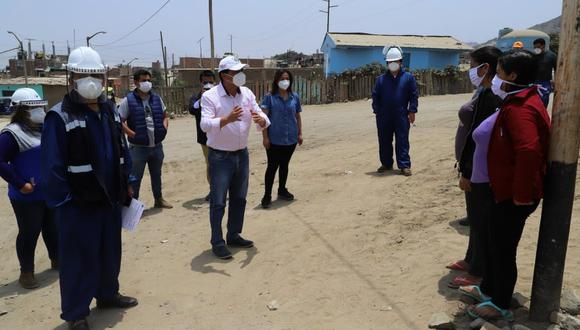 Alcalde Martín Namay asegura que buscan beneficiar a pobladores con servicios básicos. (Foto: Cortesía)
