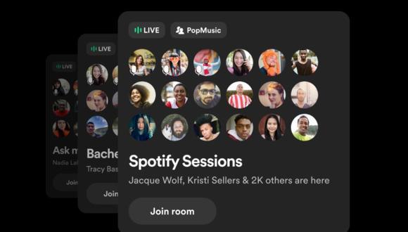 Según informó Spotify en un comunicado, Greenroom está disponible por el momento solo en inglés. (Spotify / Europa Press)