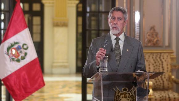 """El Gobierno indicó que la adquisición de artículos de pastelería se realizó """"antes de que asumiera el cargo"""" el presidente Francisco Sagasti el 17 de noviembre del 2020. (Foto: Andina)"""