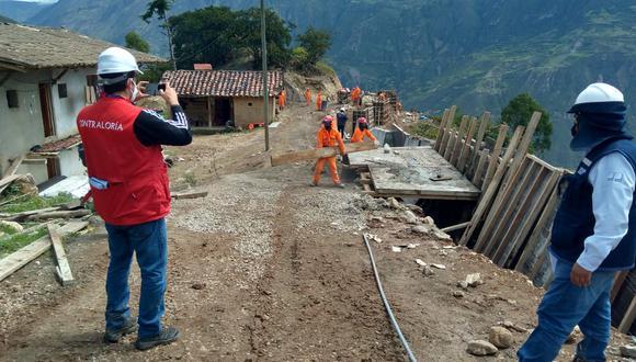 Contraloría advirtió que obra vial en Sánchez Carrión se estaría ejecutando sin cumplir con el expediente técnico. Trabajos están valorizados en S/ 32 millones.