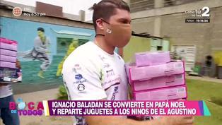 Ignacio Baladán sorprendió con juguetes y panetones a niños de El Agustino