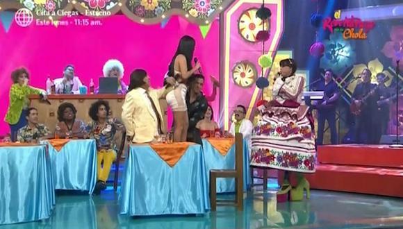 Christian Domínguez cargó a Pamela Franco en pleno programa en vivo (VIDEO)
